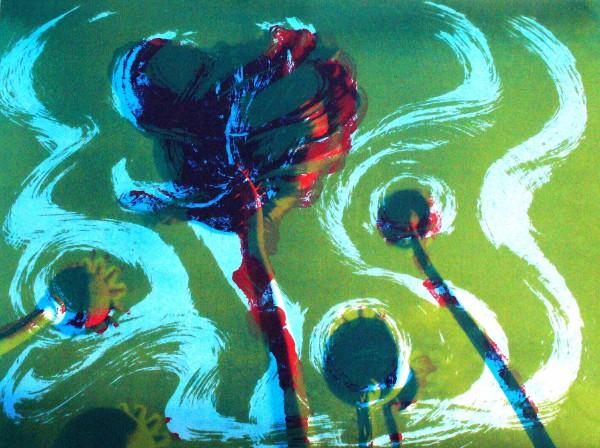 Poppies II Green sky