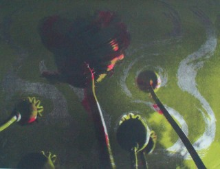 Poppies II Red in Green Sold