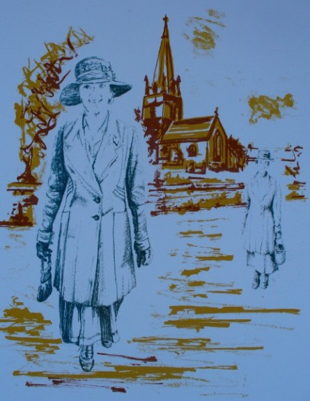 Grandmothers' Footsteps in Bampton screenprint