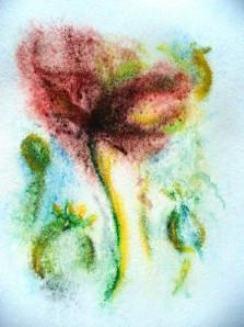 Poppy mono print