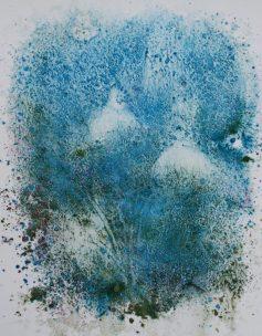 Snowdrop monoprint 3